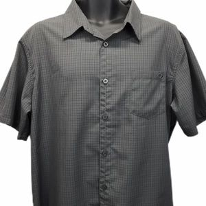 "Oakley Embroidered ""O"" Logo Check Button Up Shirt"
